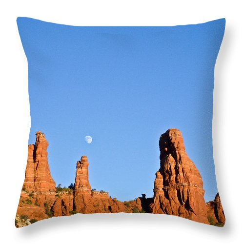 Mother Throw Pillow featuring the photograph Mother And Child And Moon by Douglas Barnett