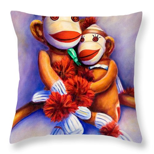 Children Throw Pillow featuring the painting Mother And Child by Shannon Grissom
