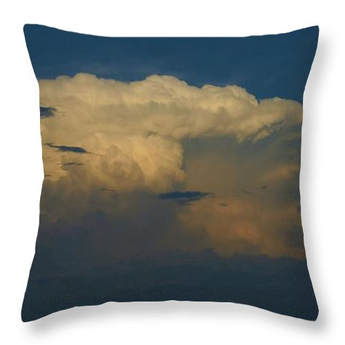 Clouds Throw Pillow featuring the photograph Mother Nature by Eric Noa