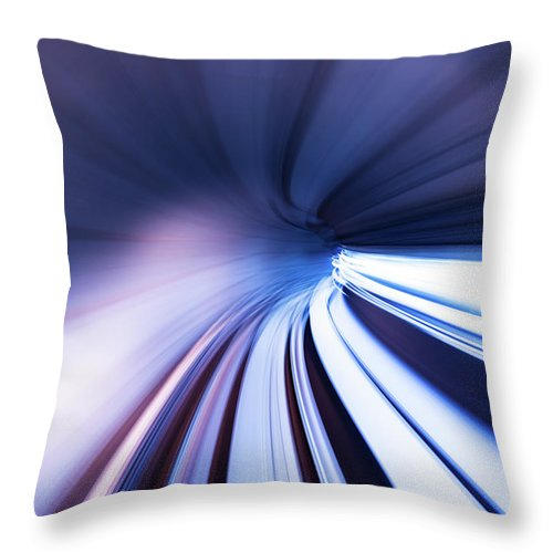 Curve Throw Pillow featuring the photograph Motion Tunnel by Loveguli
