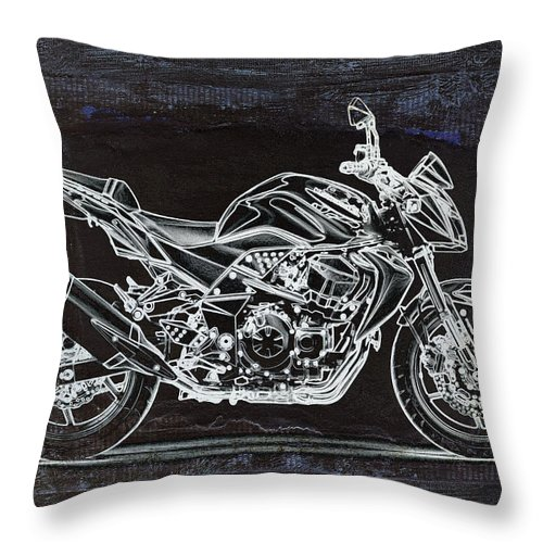 Moto Throw Pillow featuring the digital art Moto Art 41 by Variance Collections