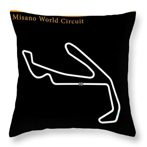 Motogp Throw Pillow featuring the photograph Moto Gp San Marino by Mark Rogan