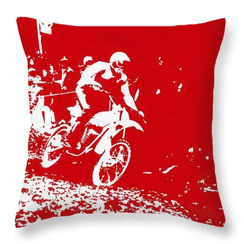 Photo Throw Pillow featuring the photograph Motocross by Dragan Kudjerski