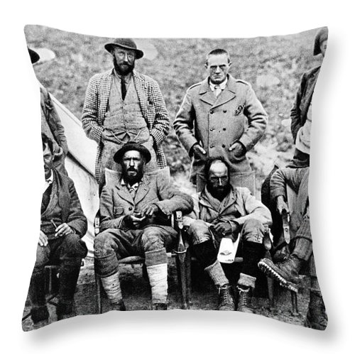 1921 Throw Pillow featuring the photograph Mount Everest Expedition by Granger