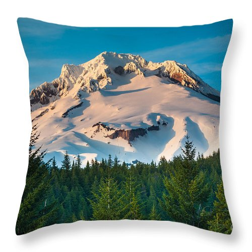 Alpine Throw Pillow featuring the photograph Mount Hood Winter by Inge Johnsson