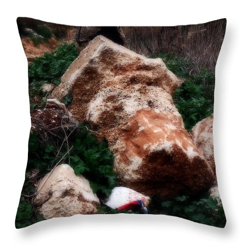 Land Throw Pillow featuring the digital art Mount Trashmore - Series Xi by Doc Braham