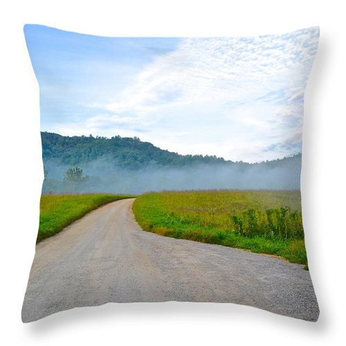 Smoky Throw Pillow featuring the photograph Mountain Air by Frozen in Time Fine Art Photography