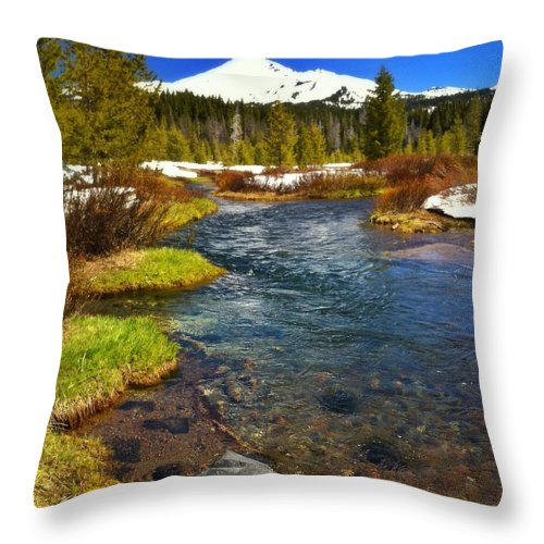 Scenics Throw Pillow featuring the photograph Mountain Creek by Andipantz