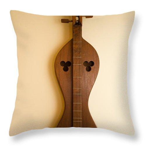 20130110-dsc05654 Throw Pillow featuring the photograph Mountain Dulcimer 2 by Douglas Barnett