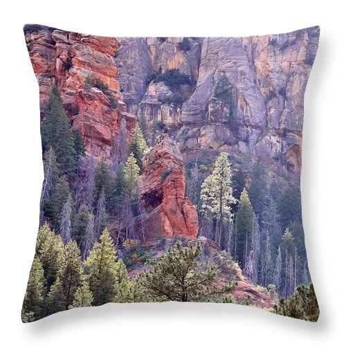 Mountains Throw Pillow featuring the photograph Mountain Majesty by Deb Halloran