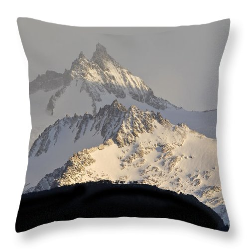 Peaks Throw Pillow featuring the photograph Mountain Peaks, Argentina by John Shaw