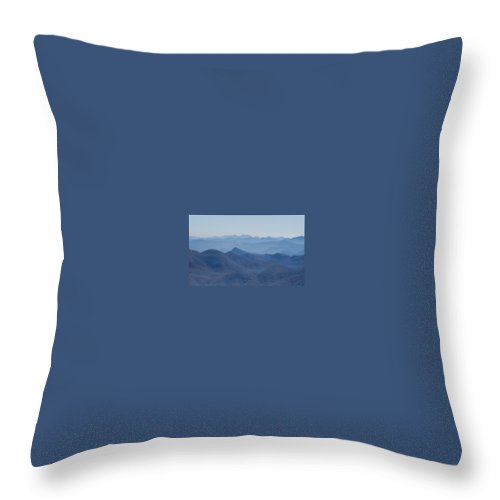 Mountain Throw Pillow featuring the photograph Mountain Peaks Of Appalachia by Douglas Barnett