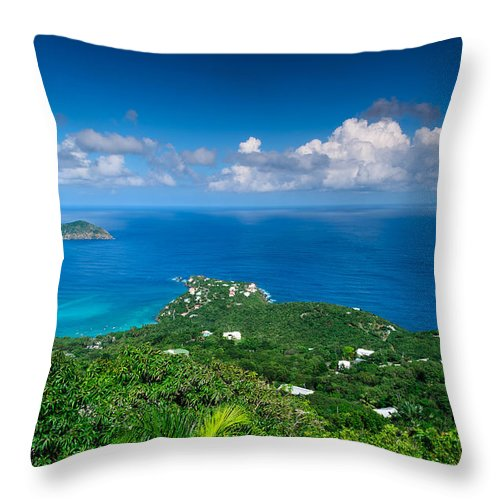 Nature Throw Pillow featuring the photograph Mountain Top View II by AE Jones