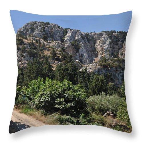 Mountain Throw Pillow featuring the photograph Mountainous Zia Village by Luis Alvarenga
