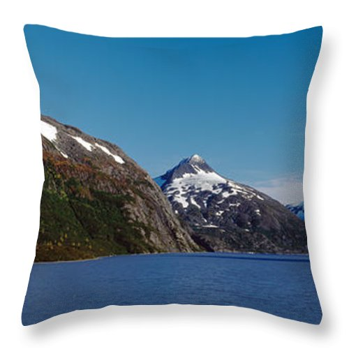 Photography Throw Pillow featuring the photograph Mountains At The Seaside, Chugach by Panoramic Images