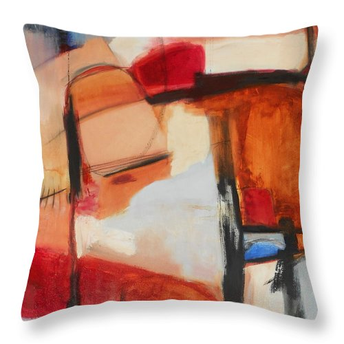 Abstract Throw Pillow featuring the painting Mountaintop Rearranged by Danielle Nelisse