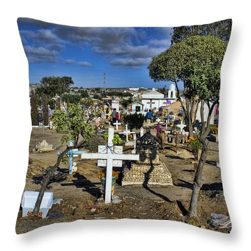 Day Throw Pillow featuring the photograph Mourning After by Hugh Smith