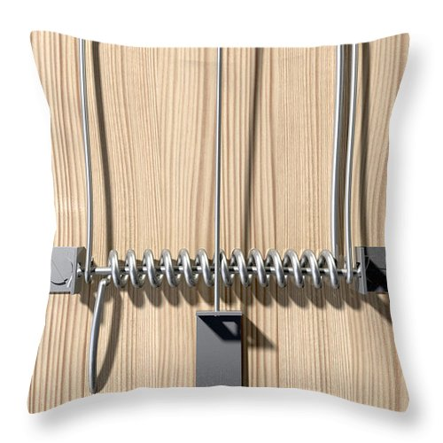 Trap Throw Pillow featuring the digital art Mousetrap Plain Perspective by Allan Swart