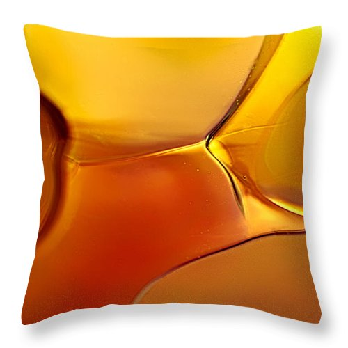 Red Throw Pillow featuring the photograph Movement by Omaste Witkowski