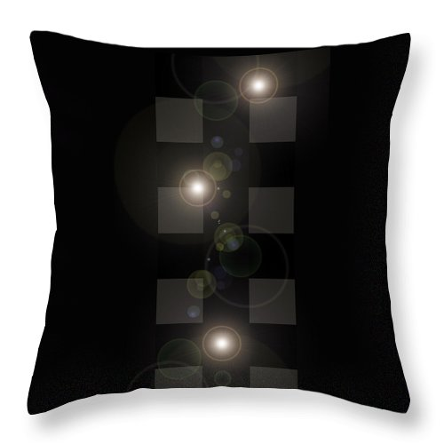 Moveonart! Lightscameraaction Abstract By Artist Musician Jacob Kane Kanduch -- Omnetra Throw Pillow featuring the digital art Moveonart Lightscameraaction by Jacob Kanduch