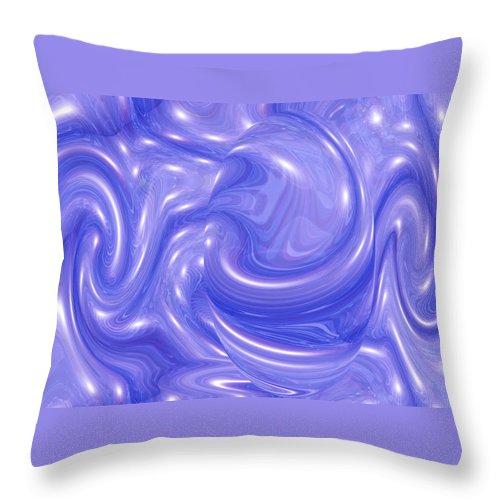Moveonart! manywavesofchangearriving Digital Abstract Art By Artist Jacob Kane Kanduch -- Omnetra -- At Moveonart! Usa Throw Pillow featuring the digital art Moveonart Manywavesofchangearriving by Jacob Kanduch