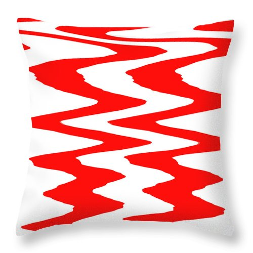 Moveonart! Visualtherapytime03feb Abstract By Artist Musician Jacob Kane Kanduch -- Omnetra Throw Pillow featuring the digital art Moveonart Visualtherapytime03feb by Jacob Kanduch
