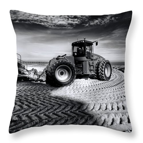 Dredge Throw Pillow featuring the photograph Moving Heaven And Earth by Wayne Sherriff