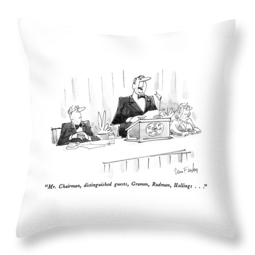 Mr Chairman Throw Pillow For Sale By Dana Fradon