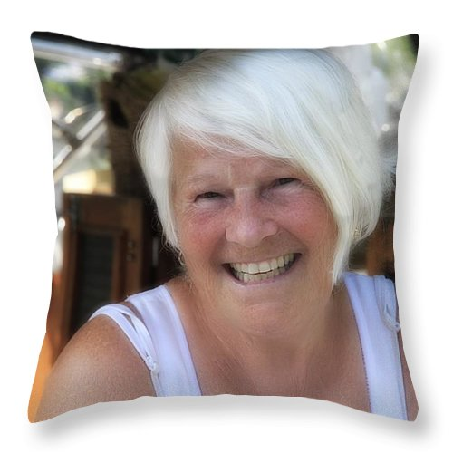 Throw Pillow featuring the photograph Mrs. Cabel by John Herzog