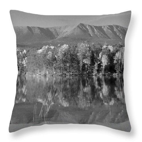 Fall Throw Pillow featuring the photograph Mt Katahdin Baxter State Park Fall by Glenn Gordon