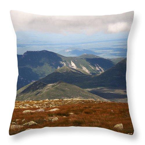 Katahdin Throw Pillow featuring the photograph Mt. Katahdin Tablelands by Glenn Gordon