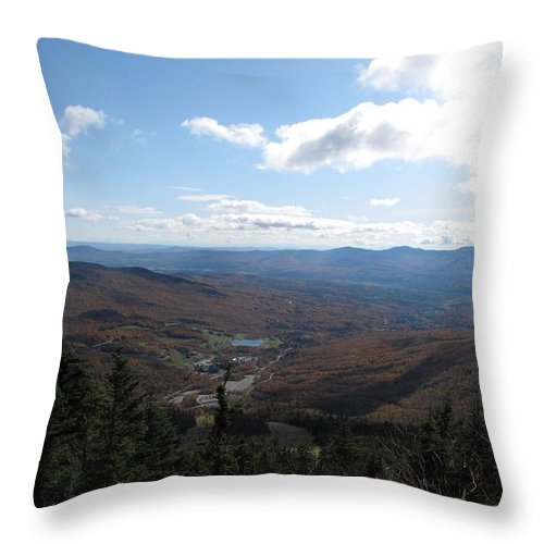 Mountain Throw Pillow featuring the photograph Mt Mansfield Looking East by Barbara McDevitt