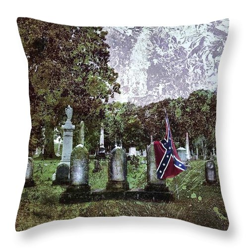 Mt Olivet Throw Pillow featuring the photograph Mt Olivet Rebel by Diana Powell
