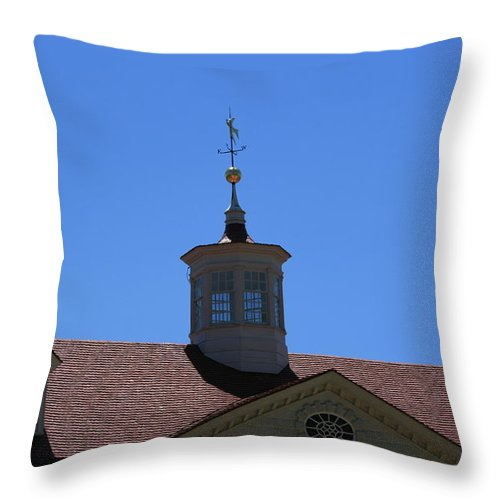 Mount Vernon Throw Pillow featuring the photograph Mt. Vernon Weather Vane by Stacy C Bottoms