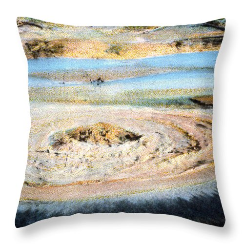 Mud Geyser Throw Pillow featuring the photograph Mud Geyser Yellowstone Np 1928 by NPS Photo Asahel Curtis