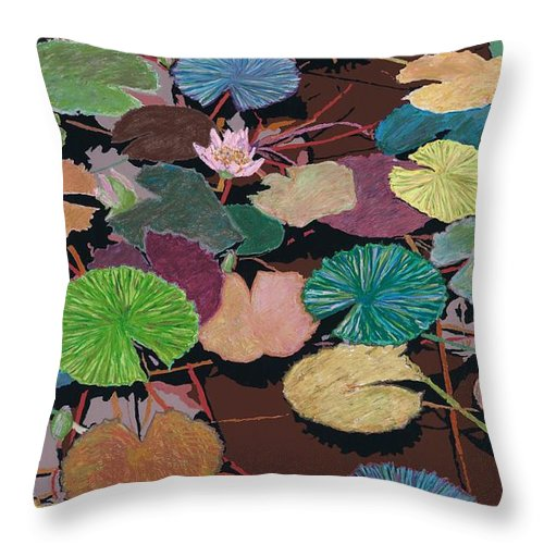 Landscape Throw Pillow featuring the painting Muddy Waters by Allan P Friedlander