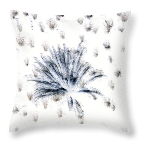 Abstract Throw Pillow featuring the photograph Muffy by Laurette Escobar
