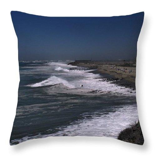 Hurricane Throw Pillow featuring the photograph Mugu Lagoon by Michael Gordon