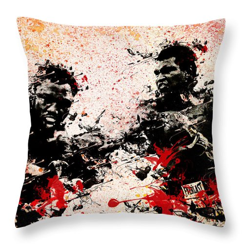Muhammad Ali Throw Pillow featuring the painting Muhammad Ali 2 by Bekim Art