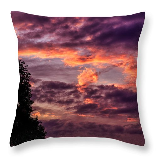 Clouds Throw Pillow featuring the photograph Mulberry Morning by Thomas R Fletcher