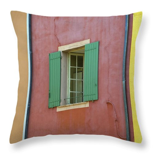 Window Throw Pillow featuring the photograph Multicolored Walls, France by John Shaw