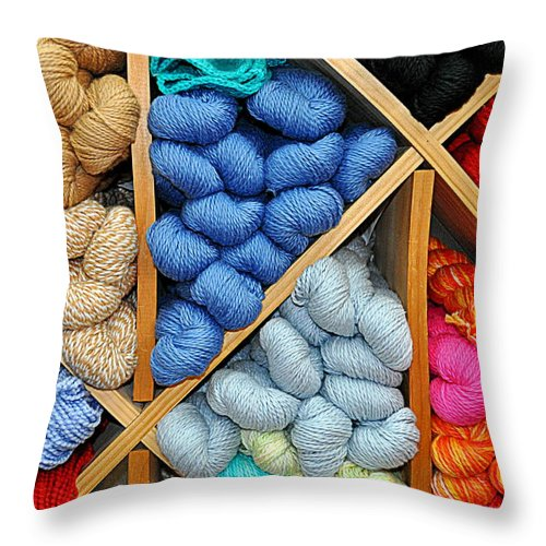 New England Throw Pillow featuring the photograph Multiple Colors by Caroline Stella