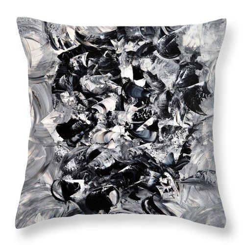 Abstract Throw Pillow featuring the painting Multitude by Isabelle Vobmann