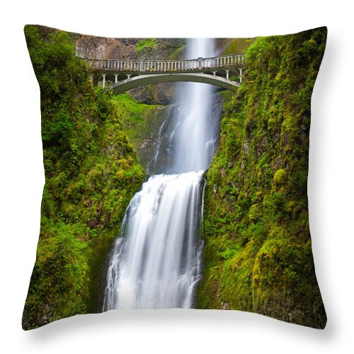 America Throw Pillow featuring the photograph Multnomah Panorama by Inge Johnsson