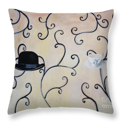 Modern Art Throw Pillow featuring the painting Mum And Dad by Venus