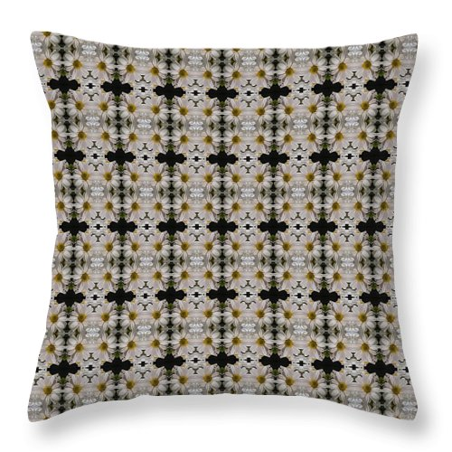 Mums Throw Pillow featuring the photograph Mums In White Design by Nicki Bennett