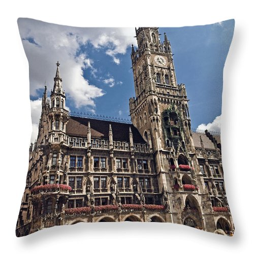 Munich Throw Pillow featuring the photograph Munich Germany by Howard Stapleton