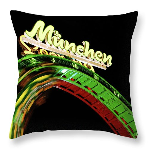Looping Throw Pillow featuring the photograph Munich Looping by Hannes Cmarits