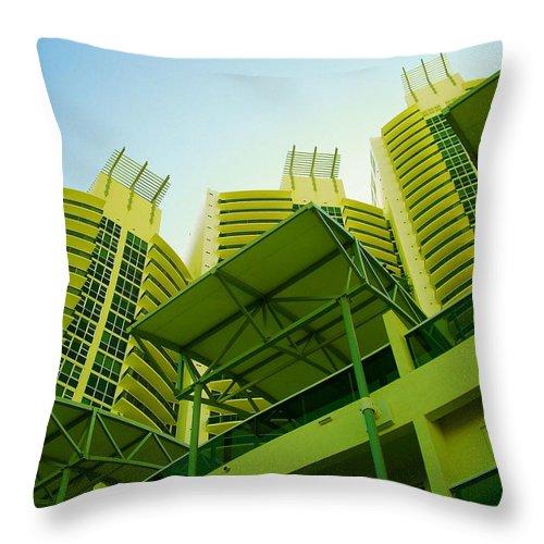 Throw Pillow featuring the photograph Murano Grande, Miami II by Monique's Fine Art