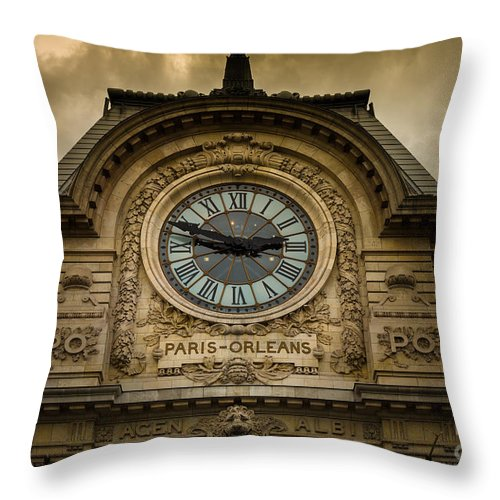 Europa Throw Pillow featuring the photograph Musee Orsay by Inge Johnsson